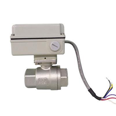 珀蓝特24V小型模拟量不锈钢电动球阀